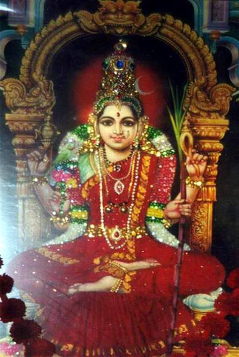 "Ambal sits on the Meru at 8 pm daily during Navarathri!"" – Sage of Kanchi"