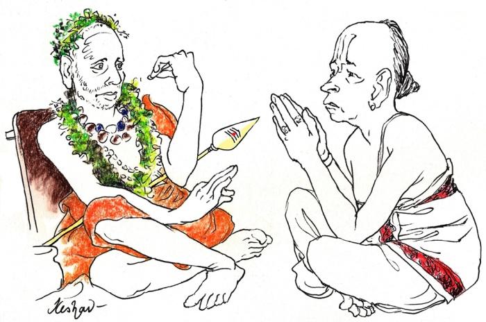2013 -- Jan -- Periyava and Ariyakkudi - Friday - Subrahmanyaya namaste....