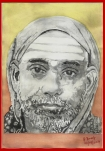 41 Mahaperiyava Deekshanya Paarvai3 B&W Painting 08092014