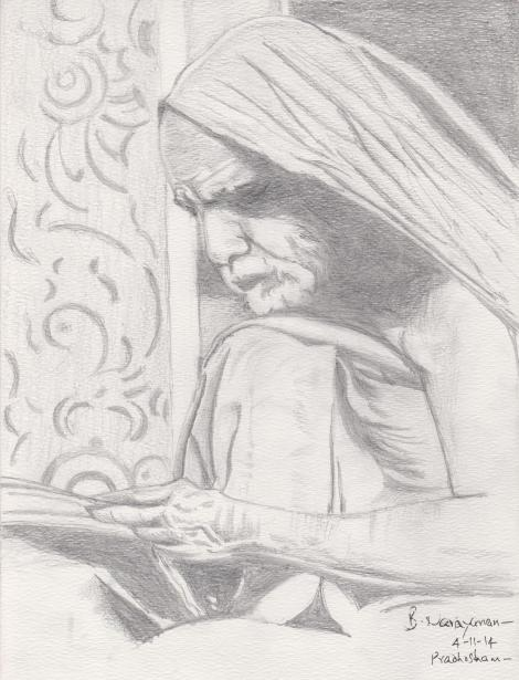 Periyava_reading_book_pencil_BN