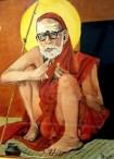 Periyava_sitting_painting_rama_Balakrishnan