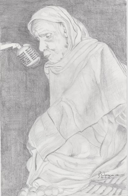 MahaPeriava_talking_in_mic_bn_drawing