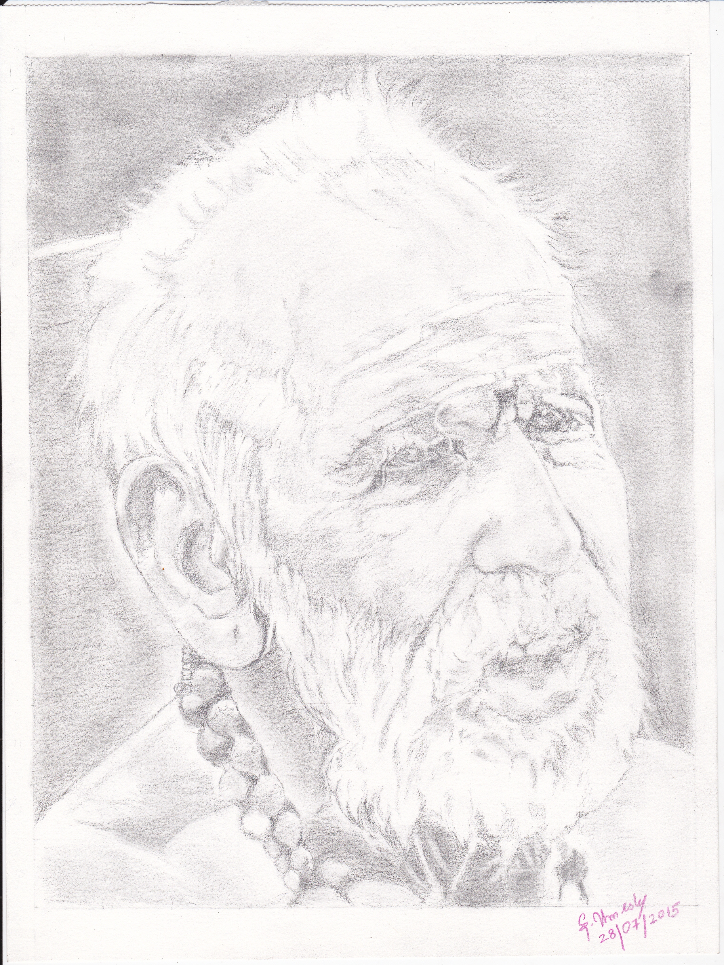Wonderful pencil sketch by umesh sage of kanchi