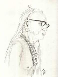 Periyava_right_profile_sketch_RK