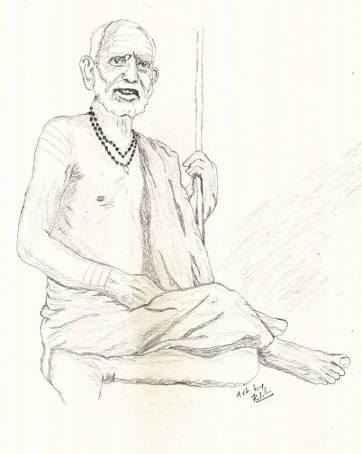 Periyava_sitting_sketch_sudhan
