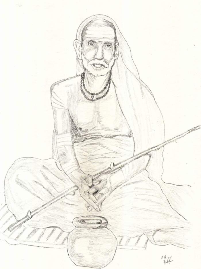 Periyava Sitting Dhandam Sudhan