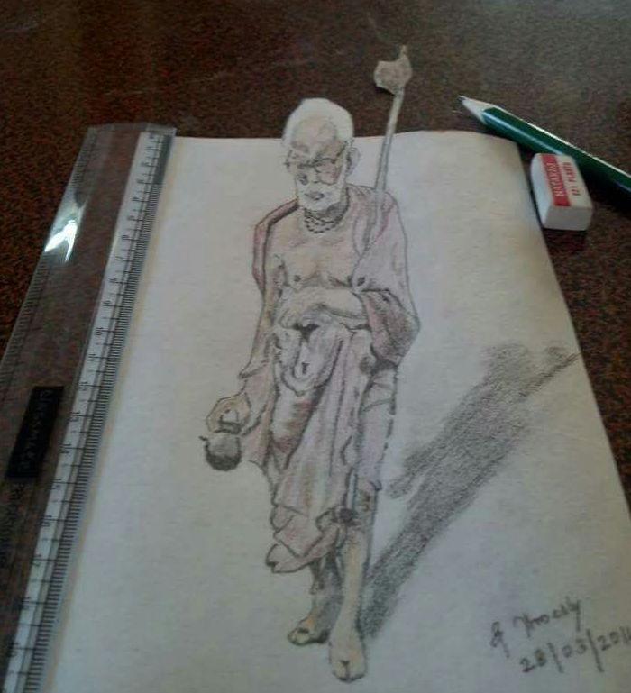3D Periyava Drawing