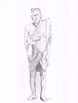 Periyava Viswaroopa Dharisanam - Sudhan Drawing