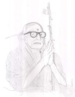 Periyava_folded_palm_dhandam_drawing_sudhan