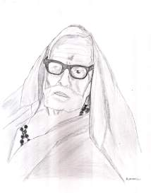 periyava_side_profile_drawing_sudhan