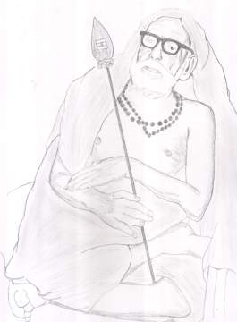 Periyava_with_vel_drawing_sudhan