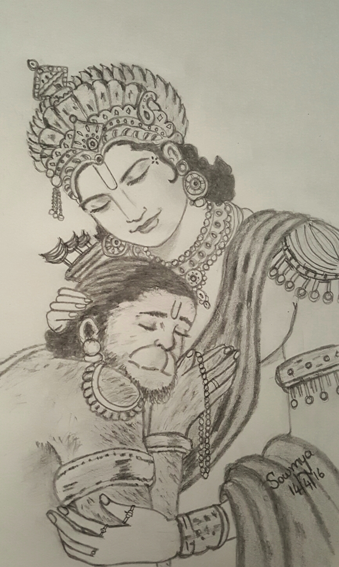 Sri Rama and Hanuman