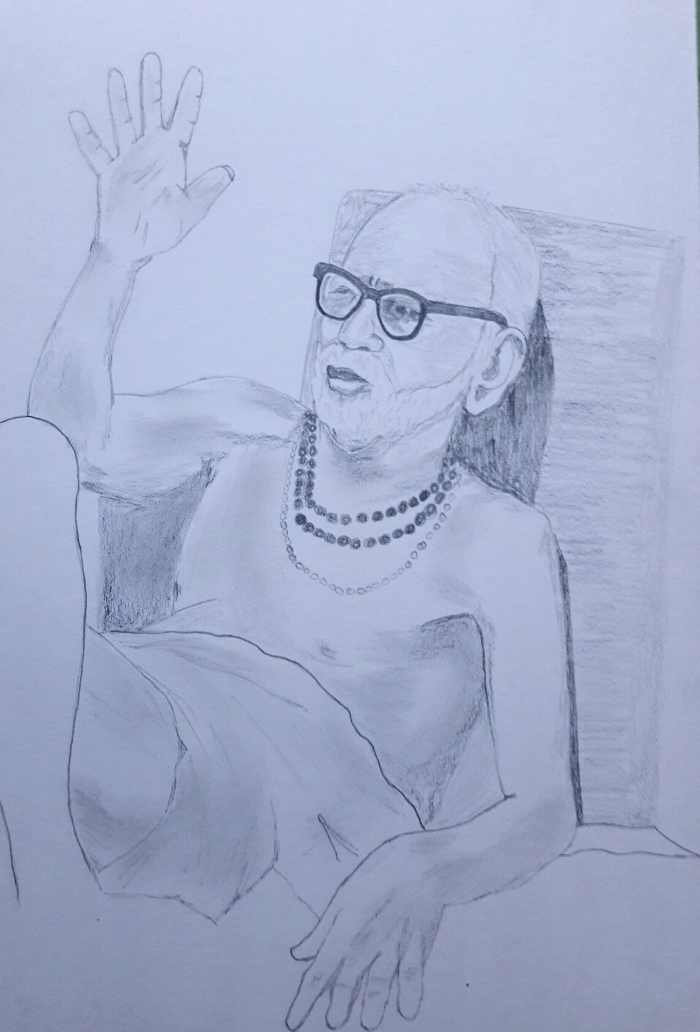 Periyava_blessing_drawing_Sudhan