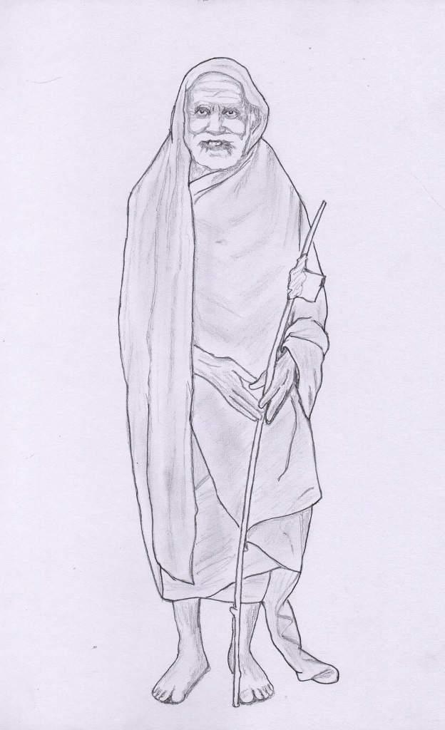 Periyava_standing_Sudhan