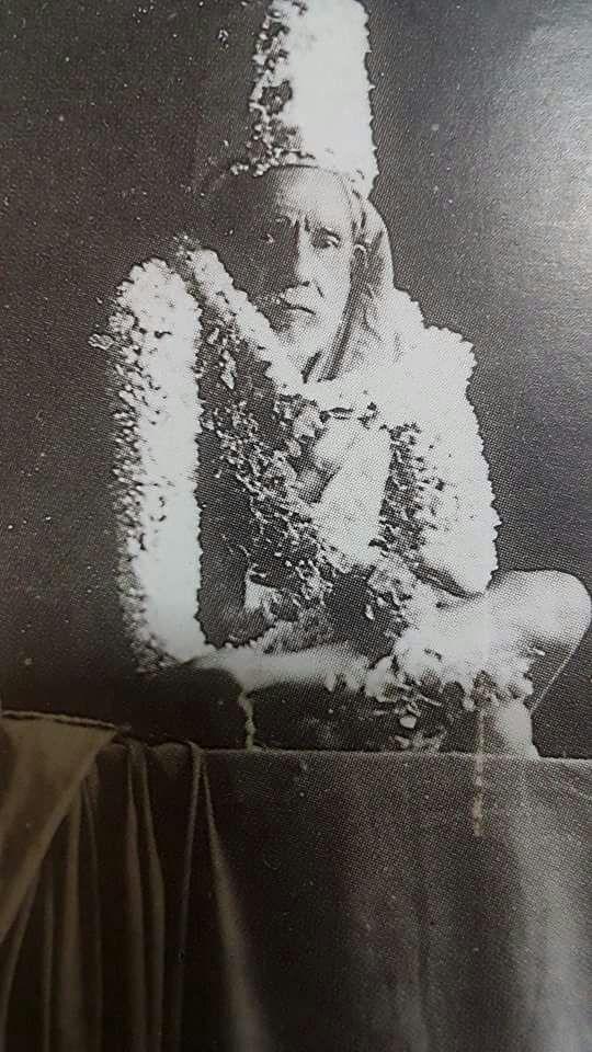 Periyava rare with kreedam and garlands.jpg